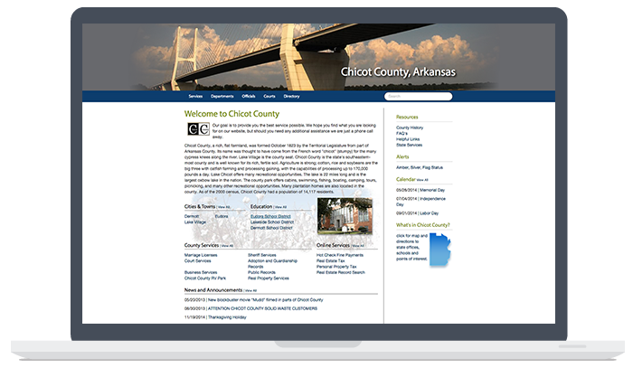 Chicot County Website